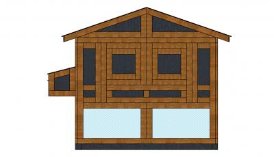 Курятник средний 180 х240 фасад 2